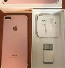 (Rose Gold ) Apple iPhone 7 Plus (128 GB) With Box, bill, charger, ful