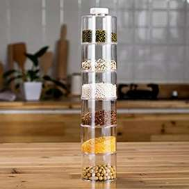 Spice Tower Self Stacking Spice-Bottles, Set Of 6
