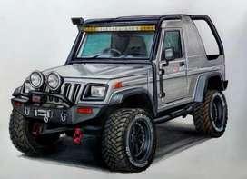 Mahindra Jeep modified with bolero body 2002 Diesel 90000 Km Driven