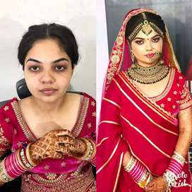 BRIDAL WITH PRE BRIDAL MAKE UP  JUST IN 15000/-RS
