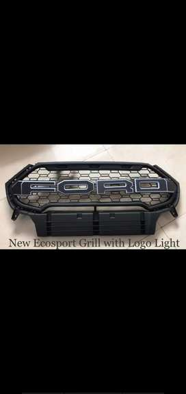 Ecosport front grill ford raptor grill with light