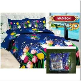 Bed Cover Flat Bonita Ukuran 220x220 Motif Madison