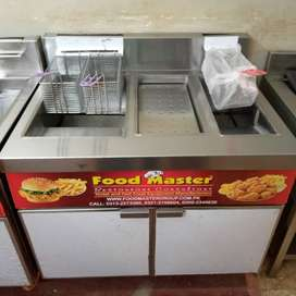 3 BASKET FRYER WITH SIZZLING AND HOTPLATE 20X40 NEW