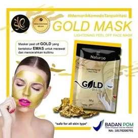 Masker Gold Anti Aging dan Komedo (Banjarmasin)