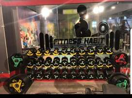 Manufacturing of dumbell plated&import from taiwaan Delhi showroom