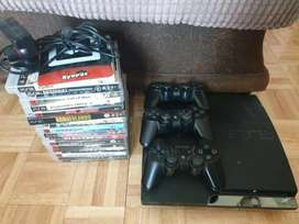 Sony ps3 used with warranty and games