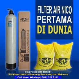 Filter air nico mengubah air sumur yg keruh jadi bersih dan tak berbau