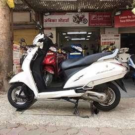 Honda activa in white colour 2017