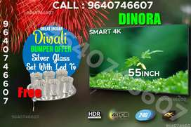"New Dinora 55"" smart HD LED TV with 2 year warranty on Diwali sale"