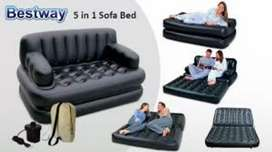 in 1 Air Sofa Bed with Pump Lounge Couch Mattress Inflatable