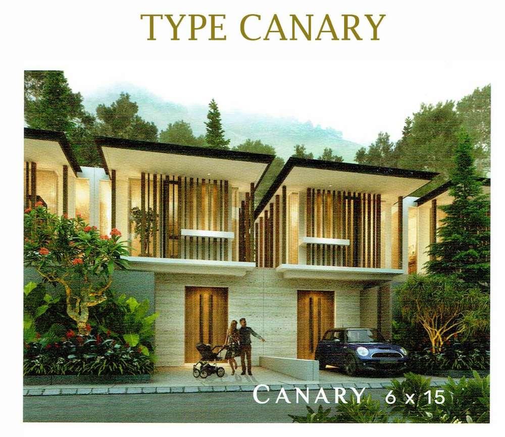 jual rumah cluster 2 lantai lokasi mewah di nilaya resort & residence