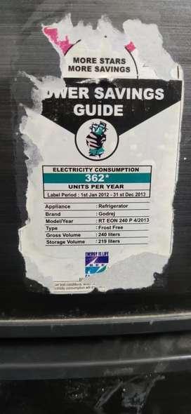 Godrej fridge 240 ltr in good condition apprx 5-6 year old