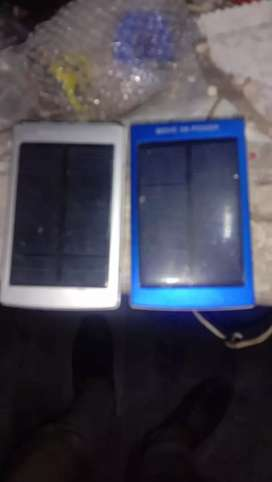 Solar Charge 20000mah Power Bank and led lights