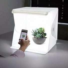 Studio Foto Mini / Mini Studio Box Lengkap Lighting LED Background