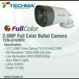 PAKET 4 CAMERA CCTV TECHMA FULL COLOR