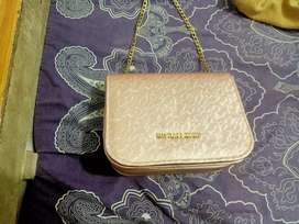 Peach colour beautiful purse and long wire clutch