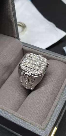 Cincin pria ring plladium berlian europa super