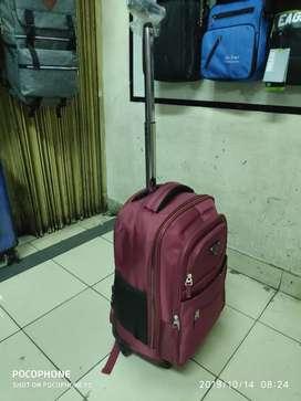 jual koper tas ransel troli roda 4 baru redy 3 warna koper 18 inci