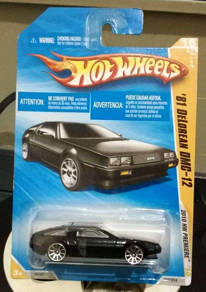 Hotwheels Delorean DMC 12 tahun 1981 black