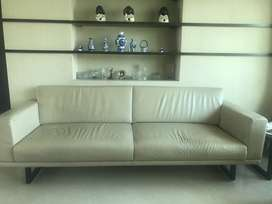 4 +3 seater leather sofas