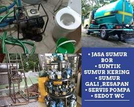 Tukang sumur bor suntik gali servis pompa air sedot wc saluran mampet