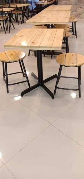 Brand new 2 years warranty Restaurant twooden tables & Chairs