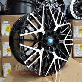Velg mobil Sienta r16 HSR wheel baut 5x100 dan 5x114,3 Black polish