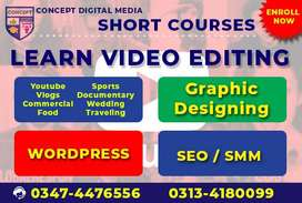 Learn Skill Video Editing, Graphic Designing & Short Courses Tip Trick