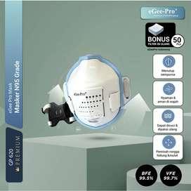 Masker N95 Grade eGeePro (GP620) PREMIUM + 50 Pcs N95 Grade Filters