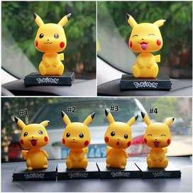 Pajangan Dashboard Mobil Pikachu, Boneka Kepala Goyang / Bobble Head