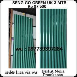 Sedia seng go green ukuran 3 mtr tersedia warna hijau dan merah