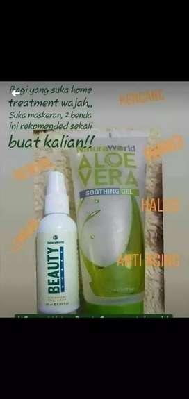 Natura Beauty Spray dan Aloevera (Serum dan Pelembab)