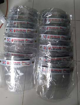 face shield stiker jaga jarak / face shield terbaru