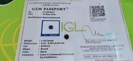 Berlian Hitam Bersertifikat