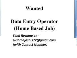 Urgent Requirement of Data Entry Operators (Home Based Work)