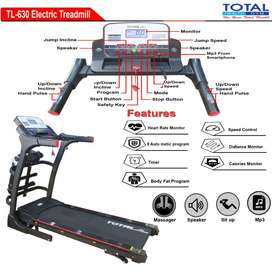 TL 630 Treadmill Merk Total Autoincline Mesin 2hp