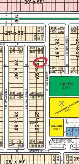 Faisal Hill B Block Old Booking Ideal location Plot available for sale