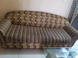 Sofa set 5 seater with Glass Centre Table
