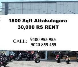 1500 Sqft  Attakulagara Main Road 30,000 Rs