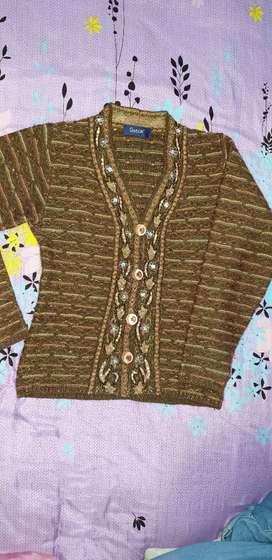 Women cardigan woolen M size