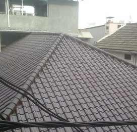 Atap rumah genteng dan rangka bajaringan 1058