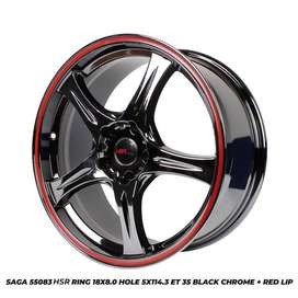 Velg baru Hsr SAGA 55083 HSR R18X8 H5X114,3 ET35 BC/RL