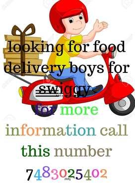 food delivery boys/salary;10000 to 30000/RT nagar