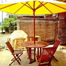 Meja payung+kursi