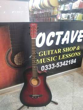 Acoustic Guitar Olive Tree Red Color