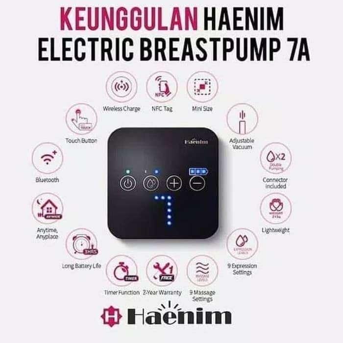 Haenim Breastpump 7A Pompa Asi Electric - Putih 0