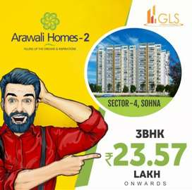 1st time 3BHK flat on sohna road by 23.50 Lac only