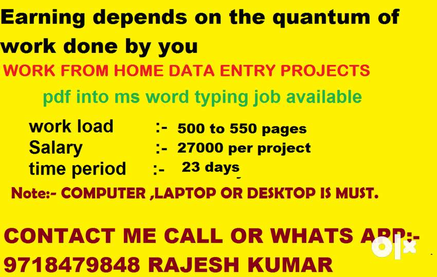 Online Data Entry Work From Home   Part Time Data Entry