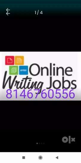 Typing work so for all areas in India from online jobs