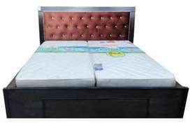 New brand Wooden double bed with box 6 by 6